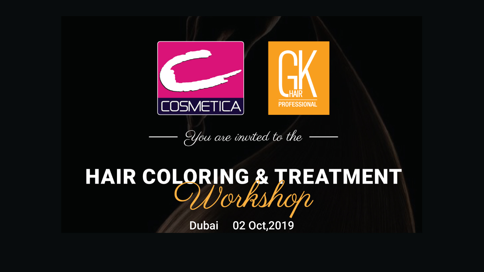 COSMETICA AND GKhair Hair Coloring & Treatment Workshop Dubai 2019