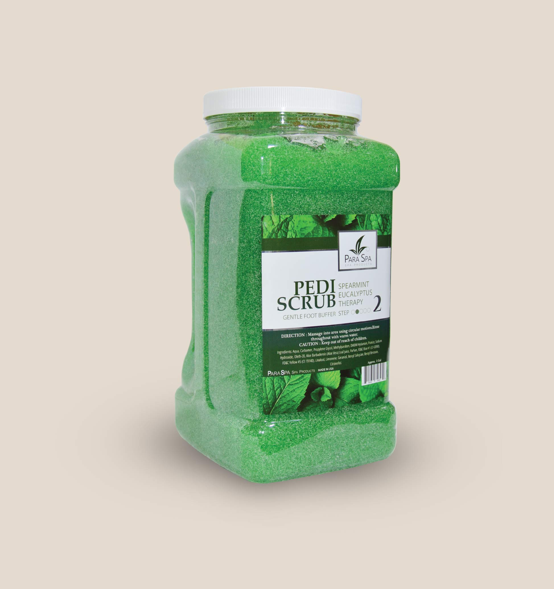 PEDI GEL SCRUB - SPEARMINT 1 GAL