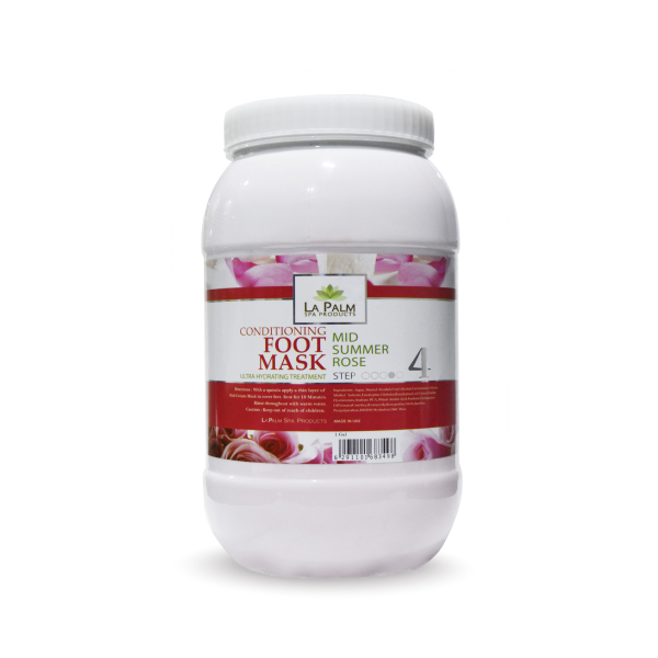 LA PALM FOOT MASK SUMMER ROSE 1 GAL