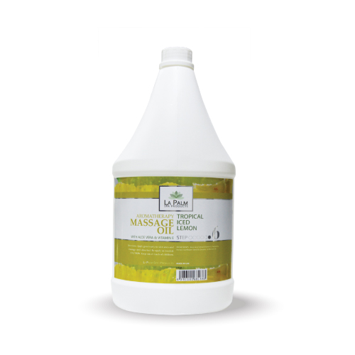 LA PALM MASSAGE OIL ICED LEMON 1 GAL
