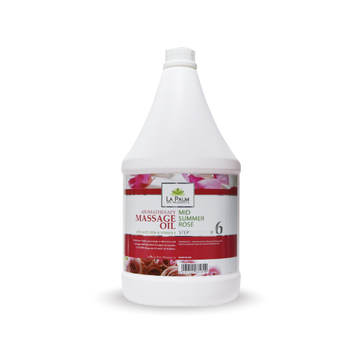 LA PALM MASSAGE OIL SUMMER ROSE 1 GAL