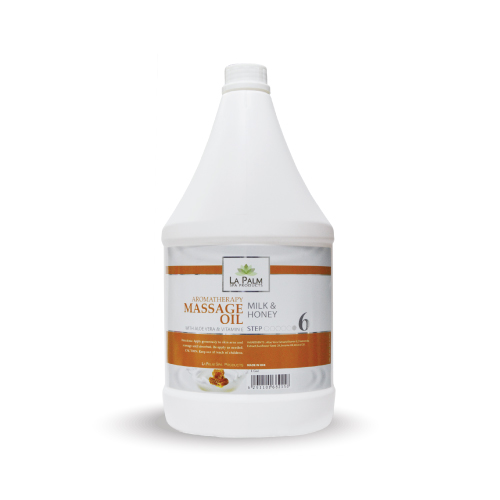 LA PALM MASSAGE OIL MILK & HONEY 1 GAL