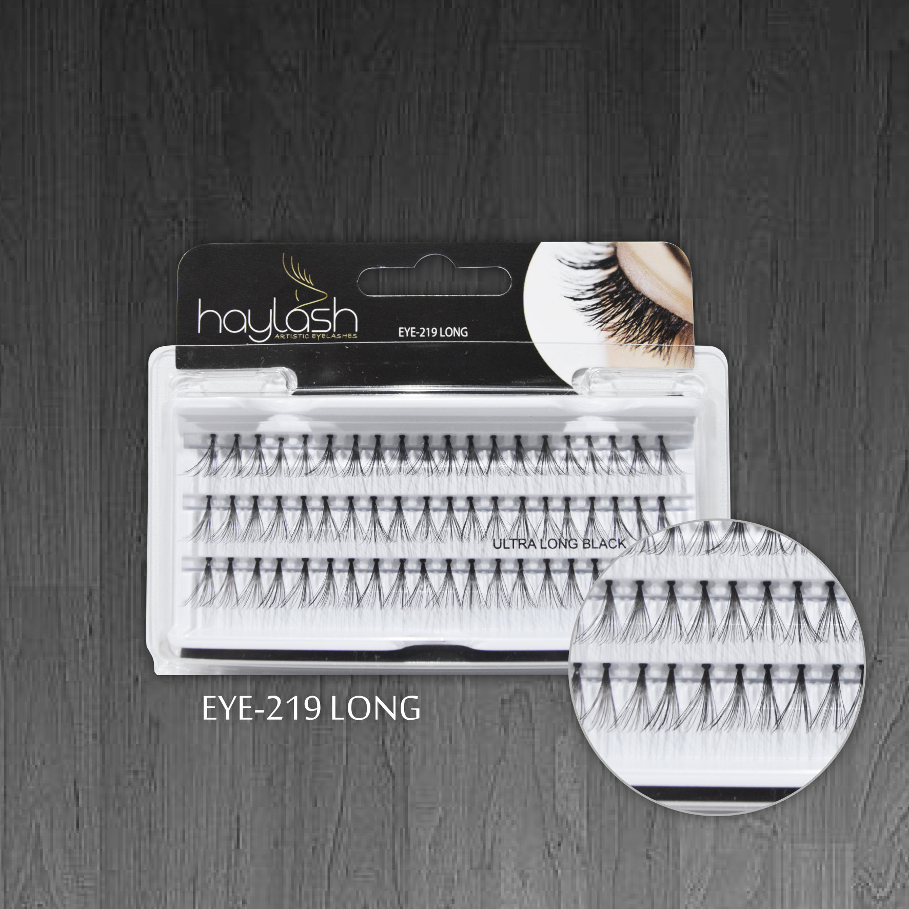 HAYLASH ULTRA BLACK EYELASH LONG 60 POINTS