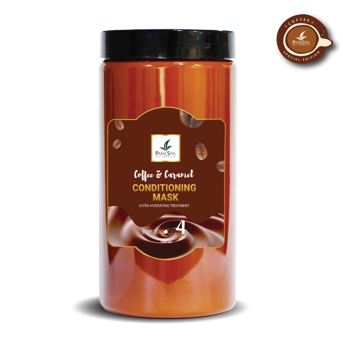 para spa, coffee spa, conditioning mask coffee caramel  flavour