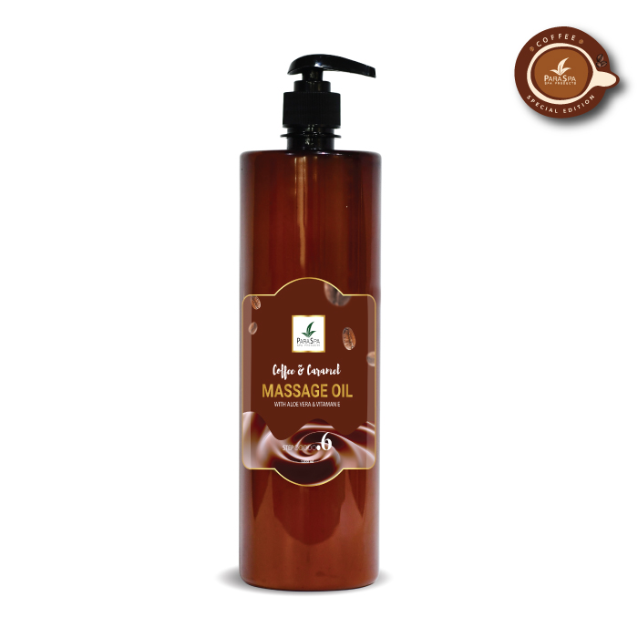 para spa massage oil coffee caramel