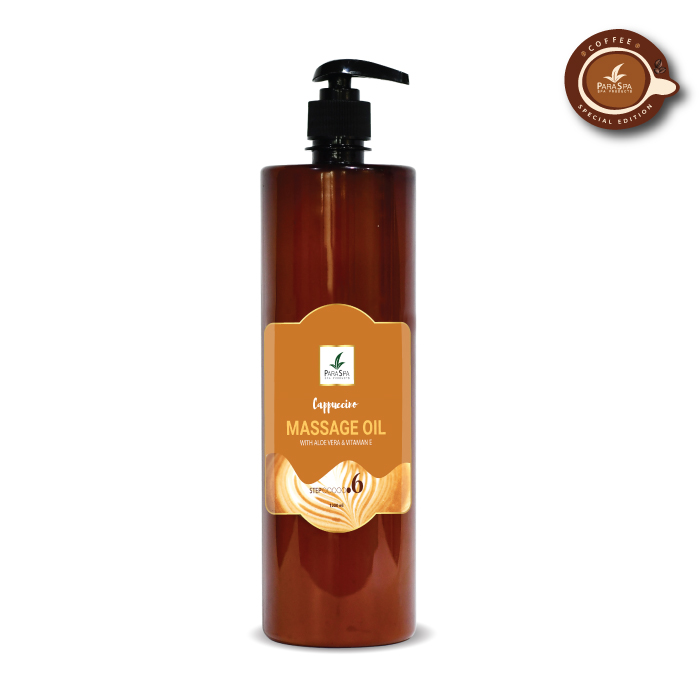 para spa massage oil cappuccino