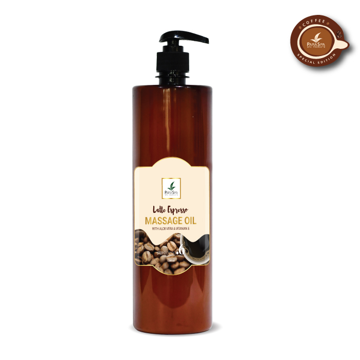 para spa massage oil latte espresso